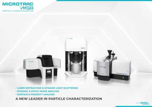 A NEW LEADER IN PARTICLE CHARACTERIZATION