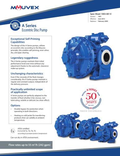 A-SERIES Mouvex Technology Eccentric Disc Pump