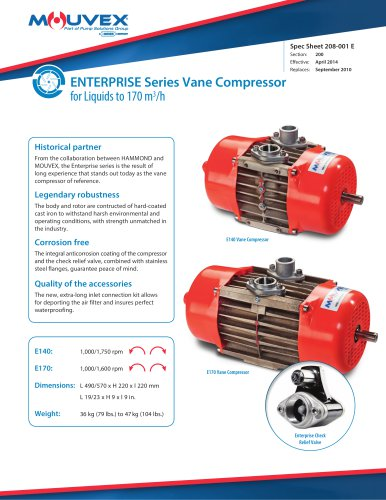 Enterprise Series Vane Compressors