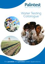 Water Testing Catalogue (Potable and Process Water Applications)