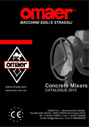 Concrete Mixers Omaer Catalogue 2013