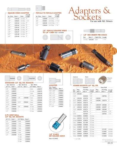 Adapters & Sockets