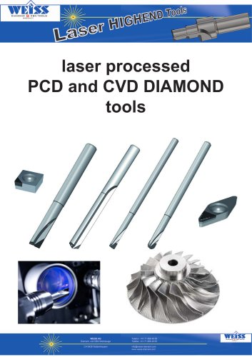 current offers - laser processed PCD and CVD DIAMOND tools