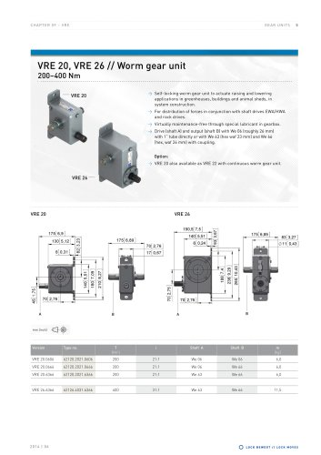 Worm gear units - VRE