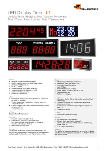 DISPLAY TIME/DATE/TIMER