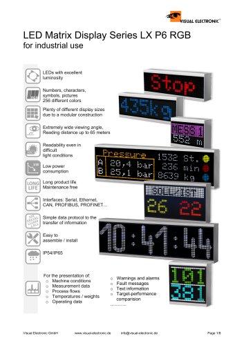 LED Matrix Display Series LX P6 RGB