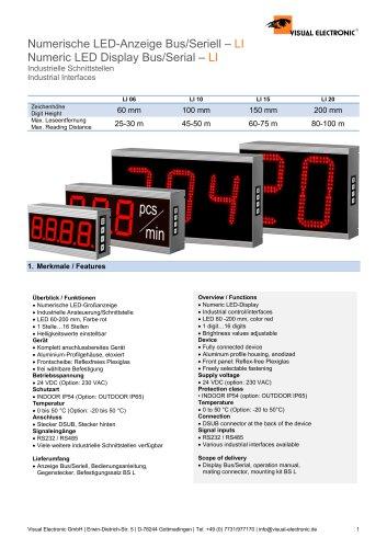 Numeric LED Display Bus/Serial – LI