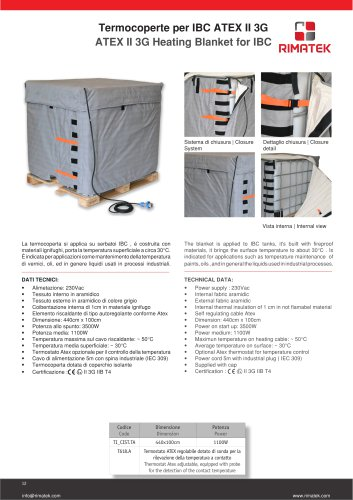 ATEX II 3G Heating Blanket for IBC