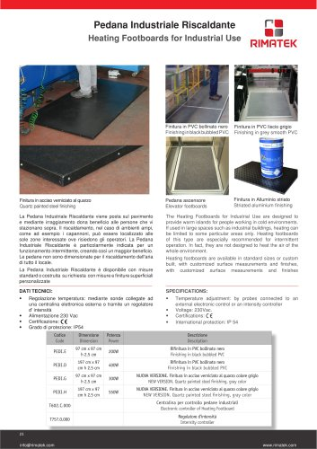 Heating Footboards for Industrial Use