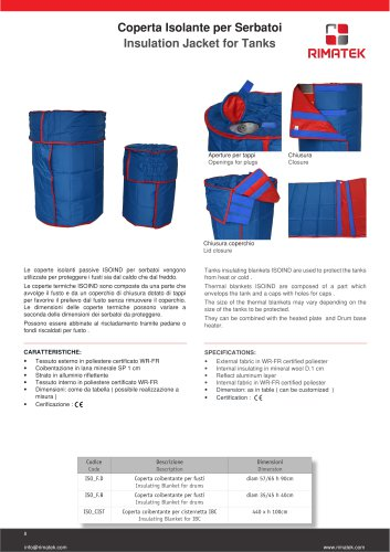 Insulation Jacket for Tanks