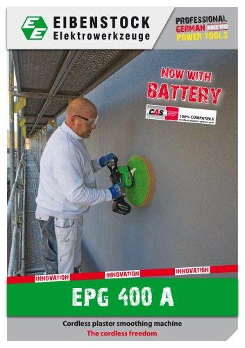 Cordless plaster smoothing machine EPG 400 A