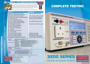 17th EDITION ELECTRICAL TEST EQUIPMENT CALIBRATOR MODEL 3200A