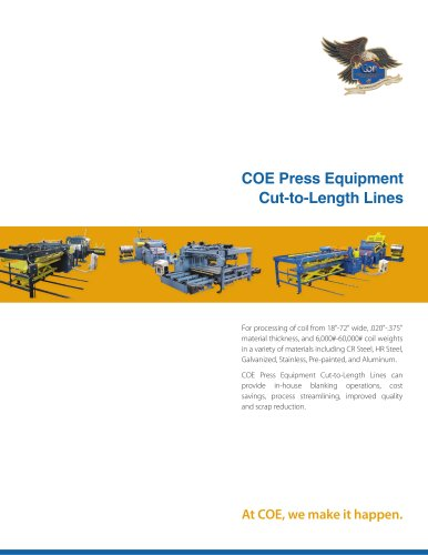 COE Press Equipment Cut-to-Length Lines