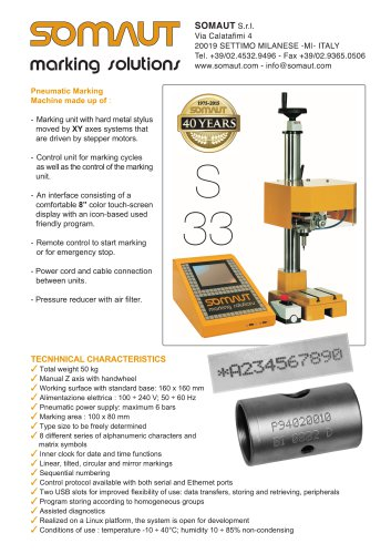 Pneumatic marking S33
