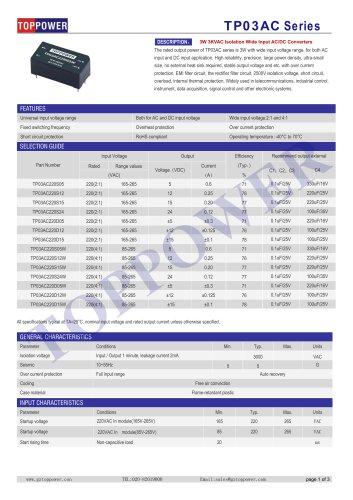 TP03AC series 3W AC-DC converter