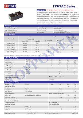 TP05AC series 5W AC-DC converter