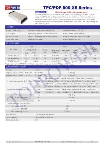 TPC/PDF-800-XS