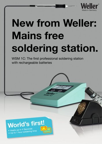 New from Weller: Mains free soldering station