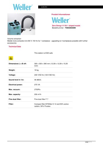 Zero Smog 4 V Kit 1 sloped nozzle
