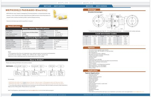 2 passageway Pneumatic/Hydraulic rotary joints