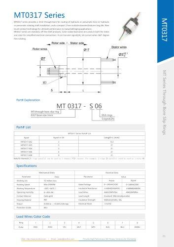 Aluminum slip ring MT0317 series