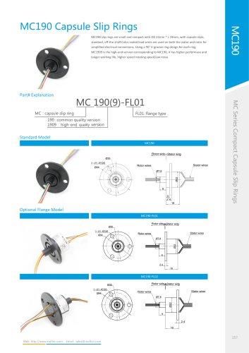 Capsule slip ring MC190 series