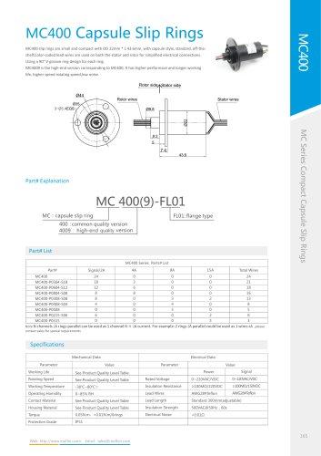 Capsule slip ring MC400 series