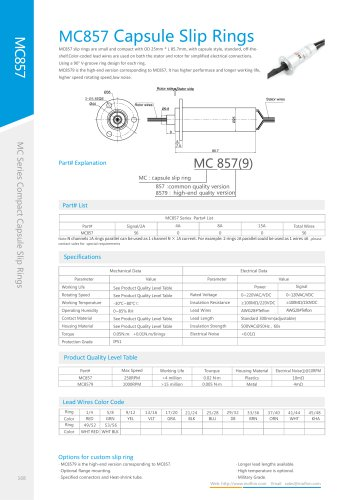 Capsule slip ring MC857 series