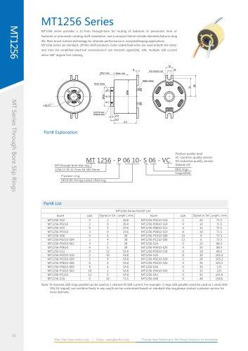 Electric slip ring MT1256 series