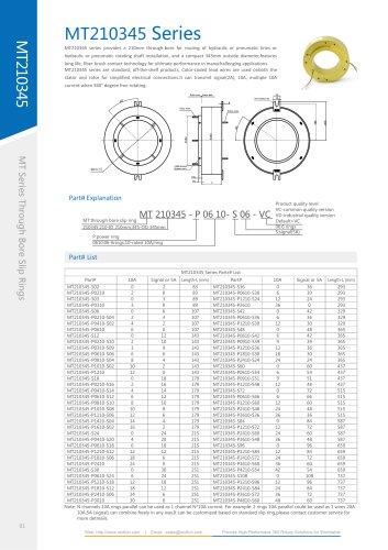 Electric slip ring MT210345 SERIES