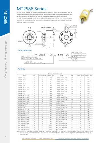 Electric slip ring MT2586 series