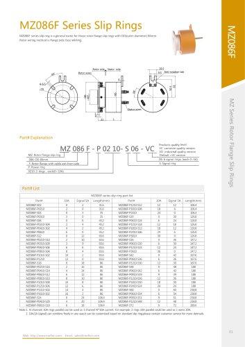 Electric slip ring MZ086F series
