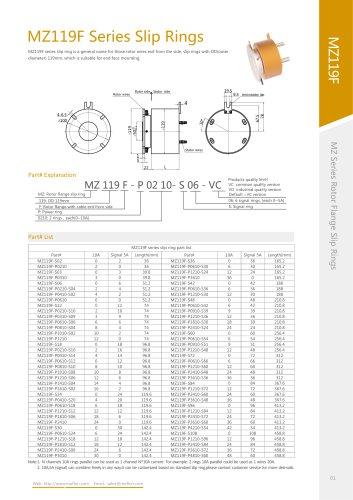 Electric slip ring MZ119F series