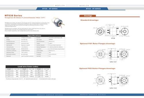 electronics through bore 38.1mm slip ring