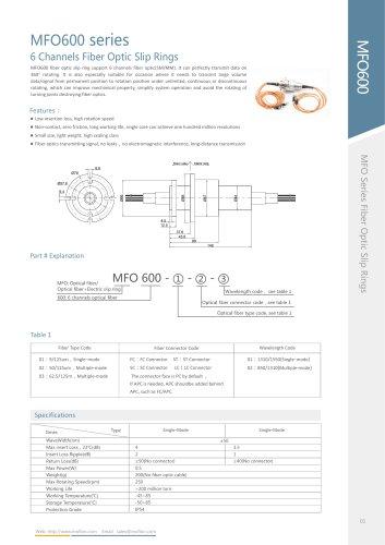 Fiber optic slip ring MFO600 series