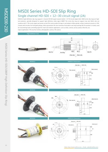 HD-SDI slip ring MSDI200 series