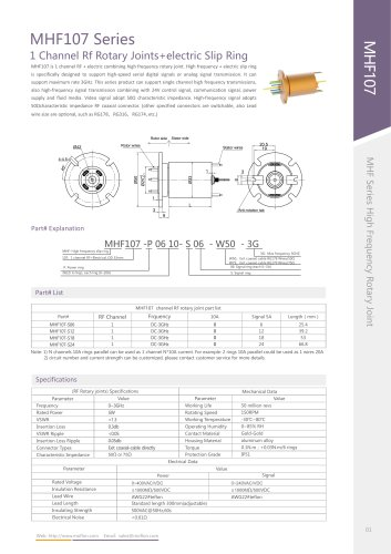 High-speed slip ring MHF107 series