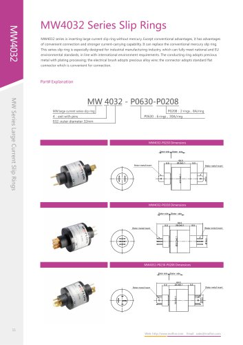 Industrial slip ring MW4032 series