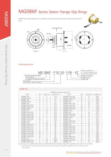 lectric slip ring MG086F series