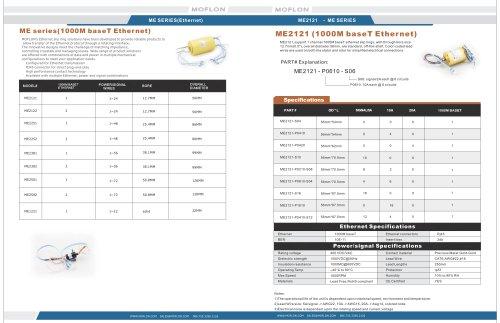 ME Series Catalog  (100M,1000M ethernet slip rings)