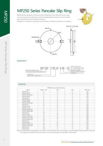 Metal slip ring MP250 series