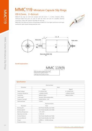 Military slip ring MMC119 series