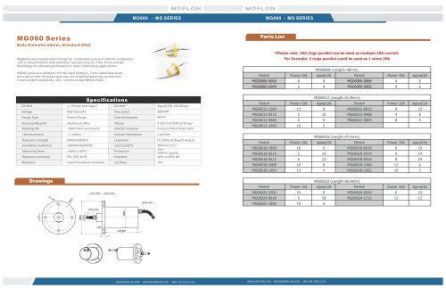 Moflon MG Series slip ring for water-proof system,IP68