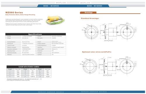 Moflon MZ Seriesslip ring for automation/Servo/Encoder