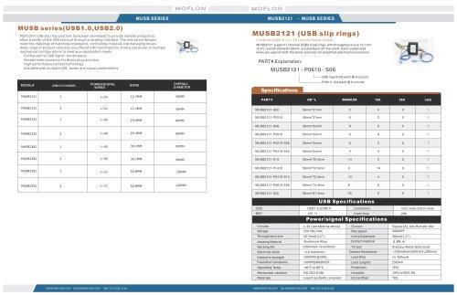 MUSB Series Catalog  (USB1.0,USB2.0 slip rings)