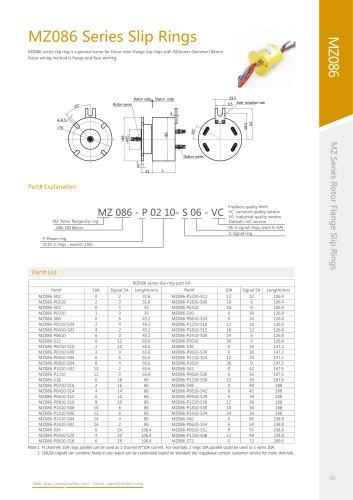Standard slip ring MZ086 series
