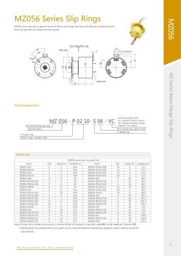 Through-bore slip ring MZ056 series