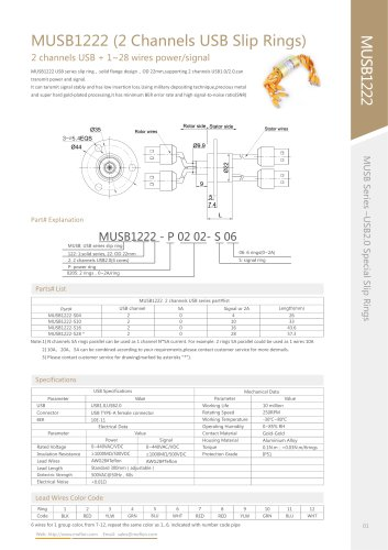USB slip ring MUSB1222 series
