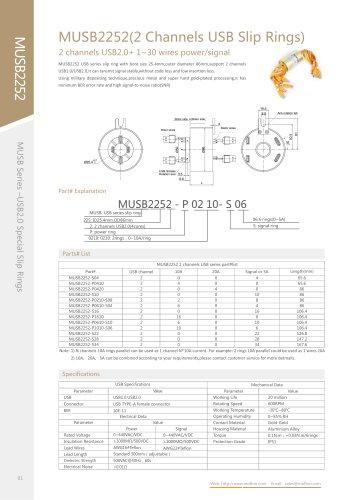 USB slip ring MUSB2252 series