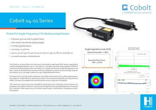 Cobolt 04-01 Series Lasers
